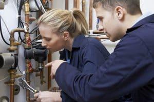 image of plumber training