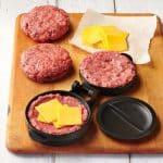 image of stuffed hamburger patty kit